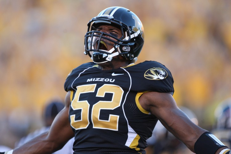 Michael Sam after a Mizzou win 								   Source: Bill Carter
