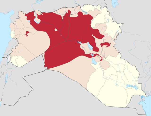 Territorial control of the ISIS				   Source: bbc.co.uk