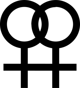 Symbol for female homosexuality