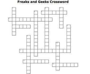 freaks and geeks crossword