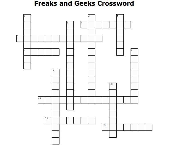 freaks and geeks crossword