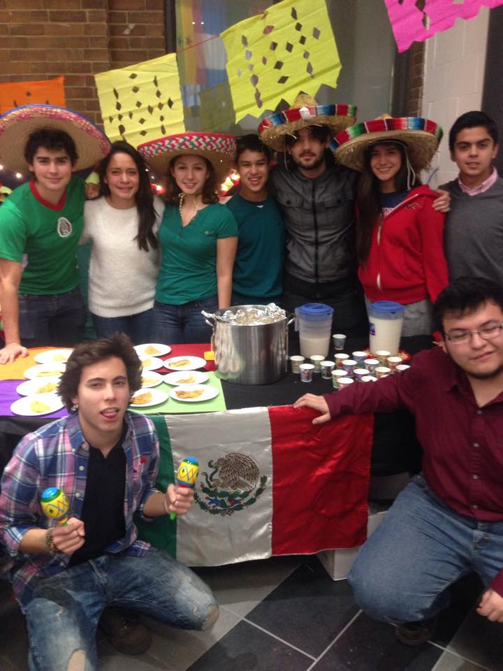 Mexico table at Multicultural week in Spring 2015 	Photo courtesy of Student Activities