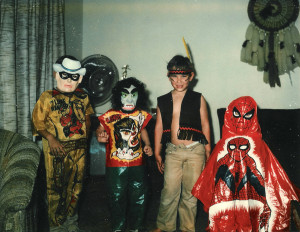 Children wearing Halloween costumes 	Sources: Flickr, FreeStockPhotos
