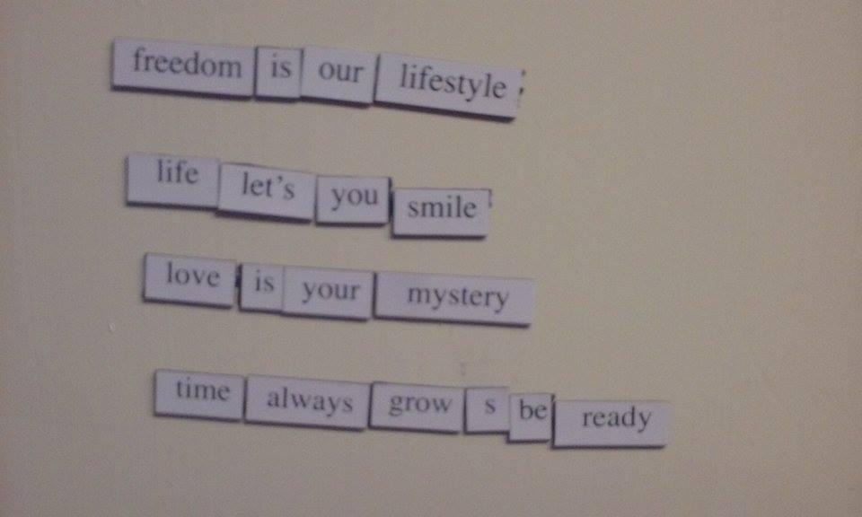 poem fridge